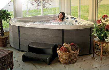 Hot tubs can be installed indoors as well as outside.