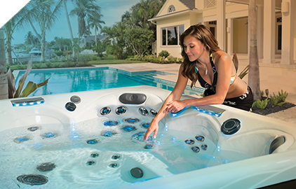 Clean clear water in a master spas hot tub
